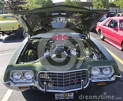 1970 s Ford Gran Torino Sport engine Editorial Photography