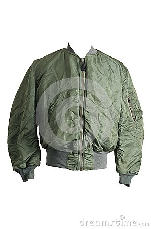 Free 1970 USAF US Air Force Flying Bomber MA-1 Pilot Flight Jacket Au Stock Photo - 106376700