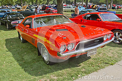 1972 Orange Dodge Challenger Editorial Image