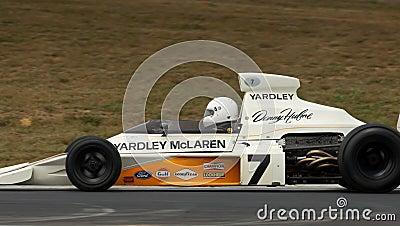 1973 F1 Champion McLaren racing car at speed Editorial Stock Image