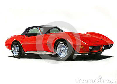 1974 Corvette Stingray Editorial Photography Image 28463187
