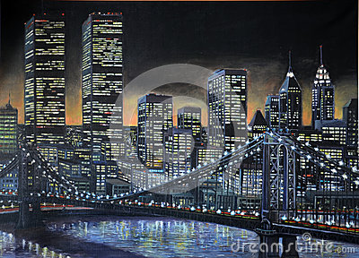 1986 Manhattan painting