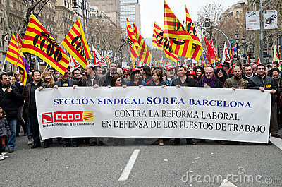19F - mayor Unions organize massive protest in Bar Editorial Image
