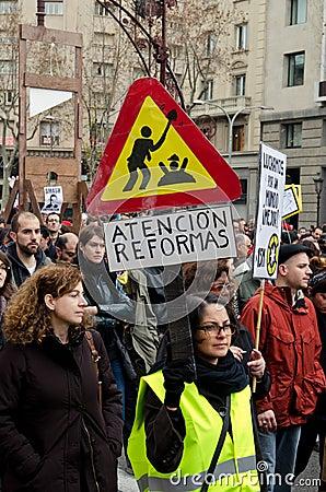 19F - mayor Unions organize massive protest in Bar Editorial Photo