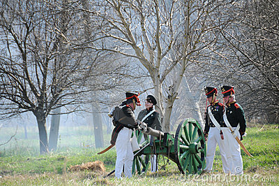 19th century battle reenactment Editorial Stock Photo