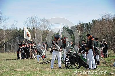 19th century battle reenactment Editorial Image