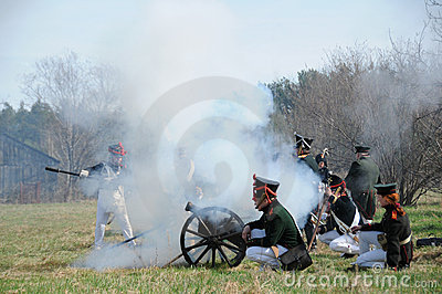 19th century battle reenactment Editorial Photo