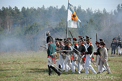 19th century battle reenactment Editorial Stock Image