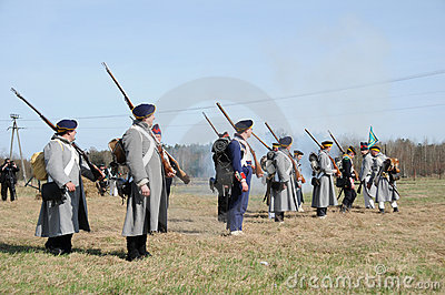 19th century battle reenactment Editorial Photography