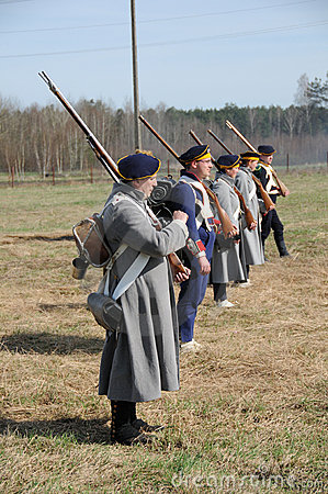 19th century battle reenactment Editorial Photo