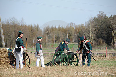 19th century battle reenactment Editorial Image