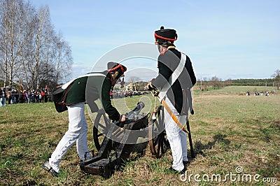 19th century battle reenactment Editorial Stock Photo