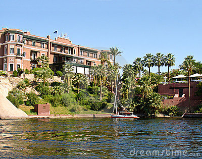 19th century hotel at Aswan, Egypt