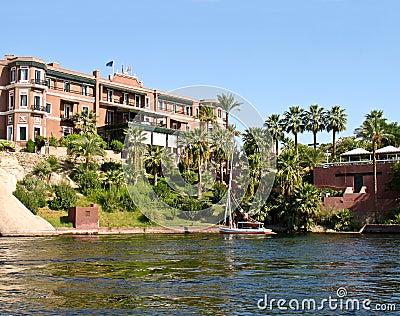 19th century hotel at Aswan, Egypt