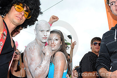 The 19th Street Parade in Zurich, august 14th 2010 Editorial Photography