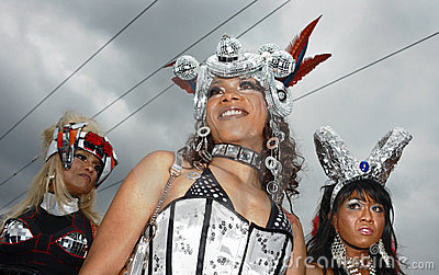 The 19th Street Parade in Zurich, august 14th 2010 Editorial Stock Photo
