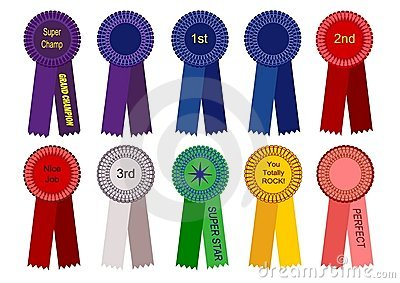 1st, 2nd, and 3rd Place Ribbons and More Vector