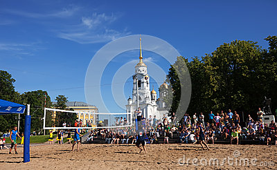 1st international beach volley tournament Editorial Stock Photo
