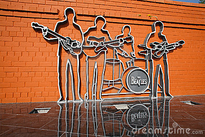 1st monument in Russia to group The Beatles Editorial Photo
