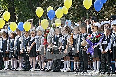 1st of september 2011. Kryvyi Rig Editorial Photo