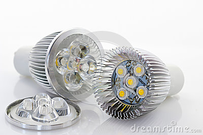1W LED lamp with optics