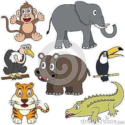 2个非洲动物收藏