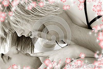 2朵花钟爱黑白照片