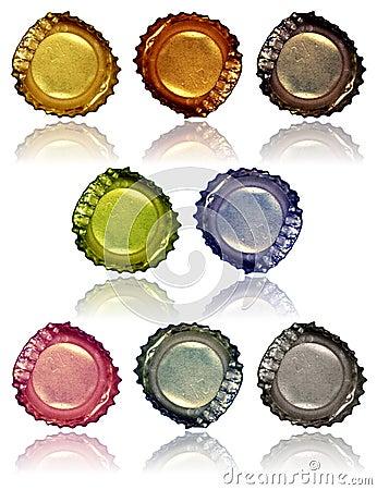 2 крышки бутылки
