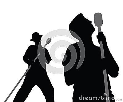 2 мужчины пея вектор