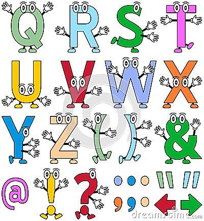 滑稽2个字母表的动画片