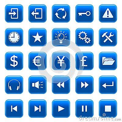 сеть 2 икон кнопок