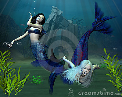 2个美人鱼