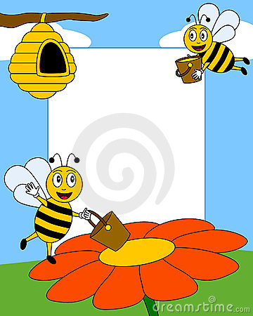 фото рамки шаржа 2 пчел