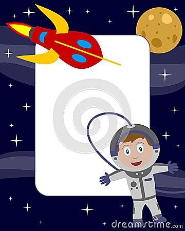 2位宇航员框架孩子照片
