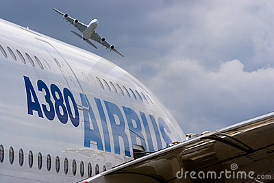 2 Airbus A380 Editorial Photo