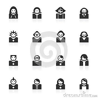 2 avatar ikon minimo serii