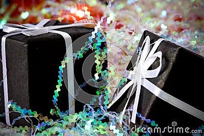 2 black gift box