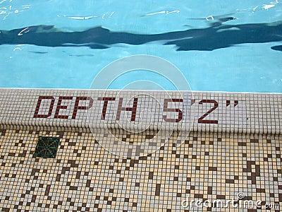 2 bluesa 5 głębokości basen stopy