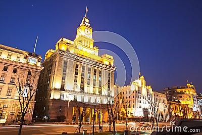 2 bund obyczajowy dom Shanghai Obraz Editorial