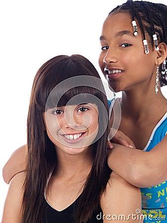 Free 2 Cute Girls Posing Royalty Free Stock Image - 2104866