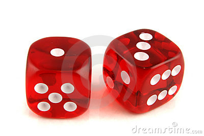 2 dice showing 1 and 3