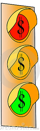 2 dolarów światła znaka ruch drogowy