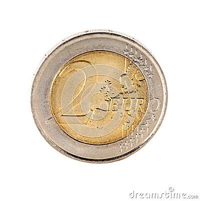 A 2 Euro coin