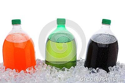 2 Liter Soda Bottles in Ice