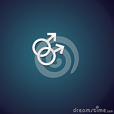 2 männliche Symbole
