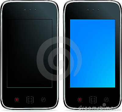 2 Mobile Phones. Vector