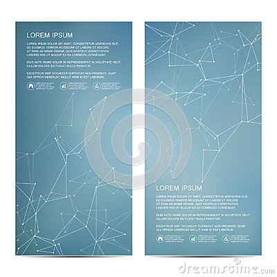 Free 2 Of Modern Vertical Scientific Banners. Molecular Structure Of DNA And Neurons. Geometric Abstract Background. Medicine Royalty Free Stock Photos - 94920648