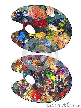 2 painter palettes