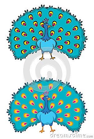 Free 2 Peacocks Royalty Free Stock Photo - 2681155