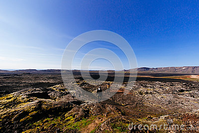 2 People Standing On Mountain Hill Under Clear Blue Sky Free Public Domain Cc0 Image